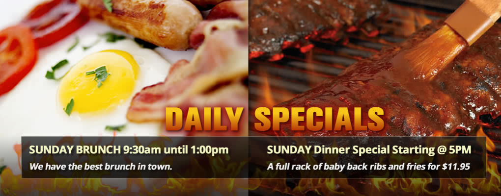 Sunday Specials at The Whistle Stop Pub