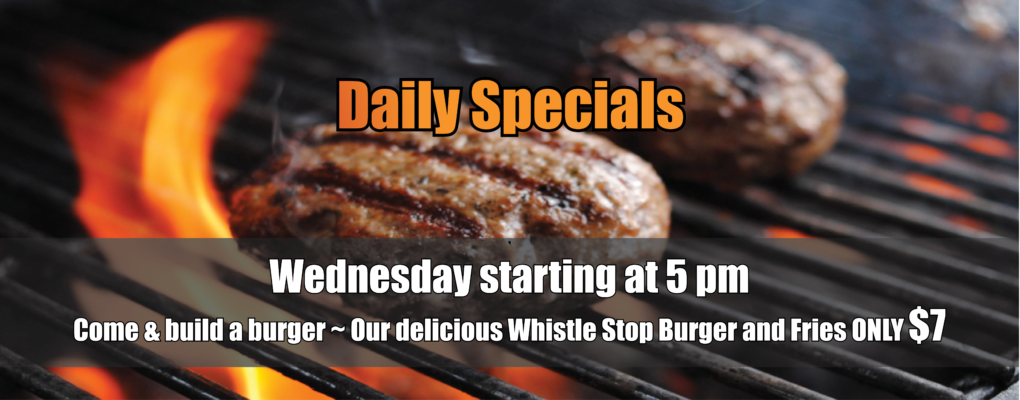 Wednesday Specials at The Whistle Stop Pub